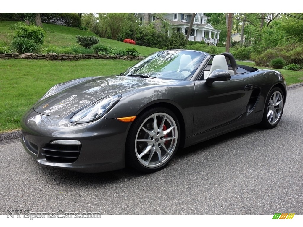 2013 Boxster S - Agate Grey Metallic / Agate Grey/Pebble Grey photo #1