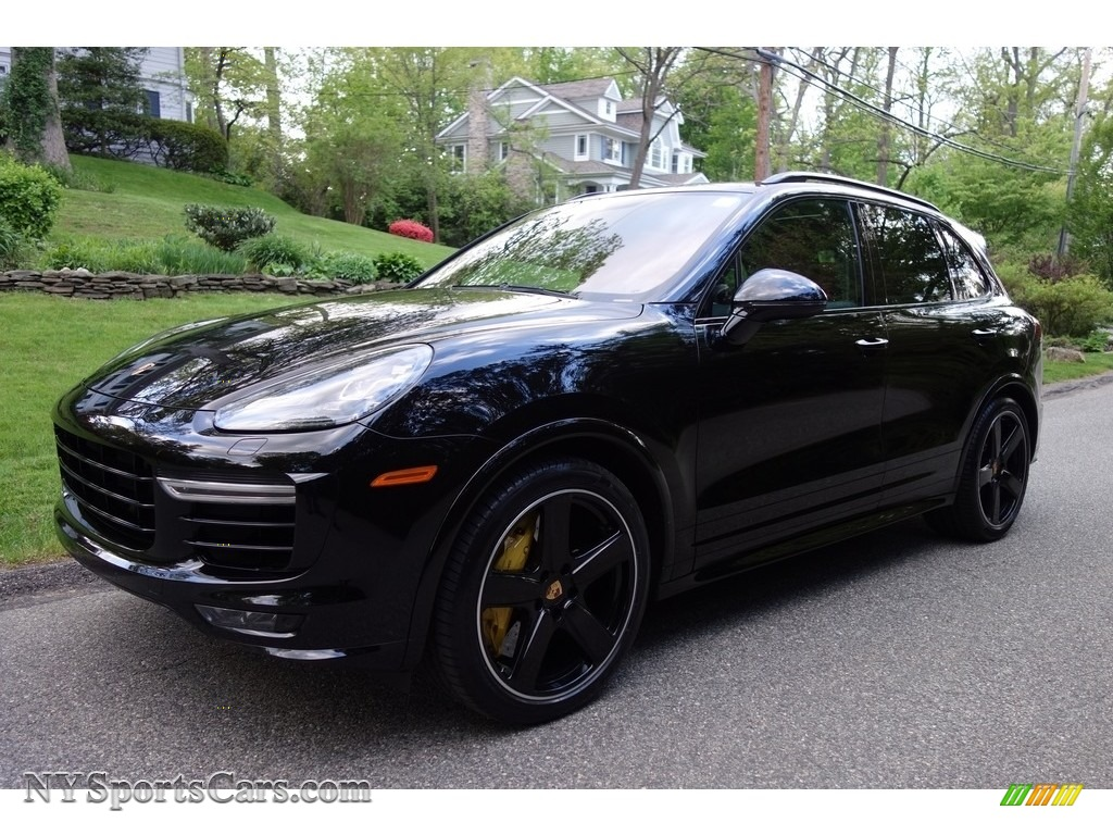2016 Cayenne Turbo S - Black / Black/Garnet Red photo #1