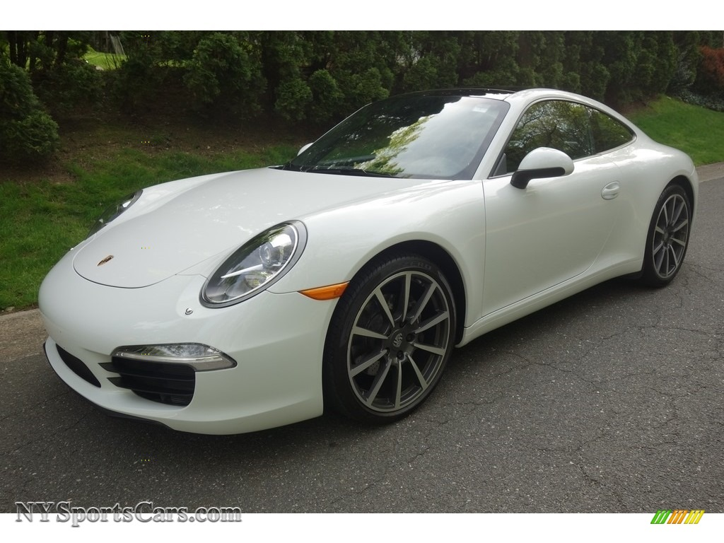 2014 911 Carrera Coupe - White / Black photo #1