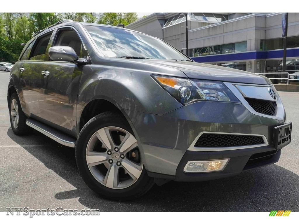 2012 MDX SH-AWD Technology - Polished Metal Metallic / Parchment photo #1