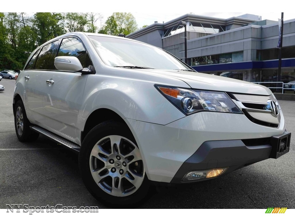 2009 MDX Technology - Aspen White Pearl / Parchment photo #1