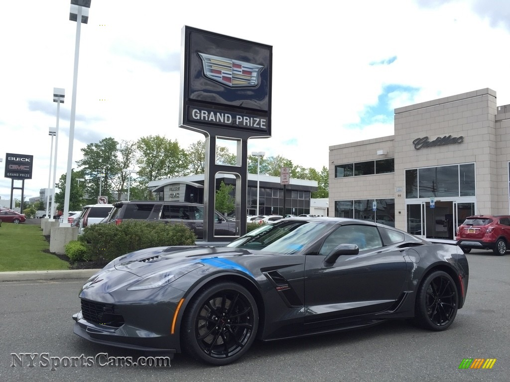 2017 Corvette Grand Sport Coupe - Watkins Glen Gray Metallic / Tension Blue Two-Tone photo #1