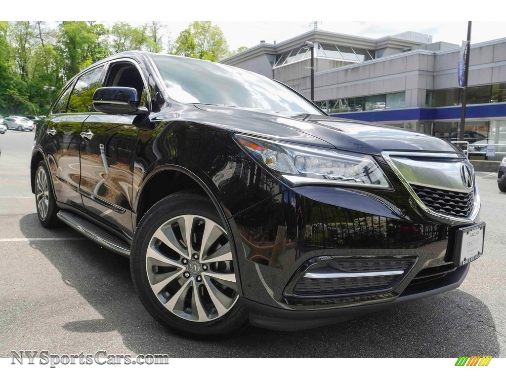 2014 MDX SH-AWD Technology - Crystal Black Pearl / Ebony photo #1
