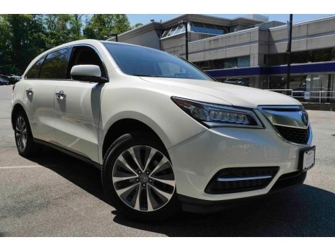 White Diamond Pearl 2014 Acura MDX SH-AWD Technology