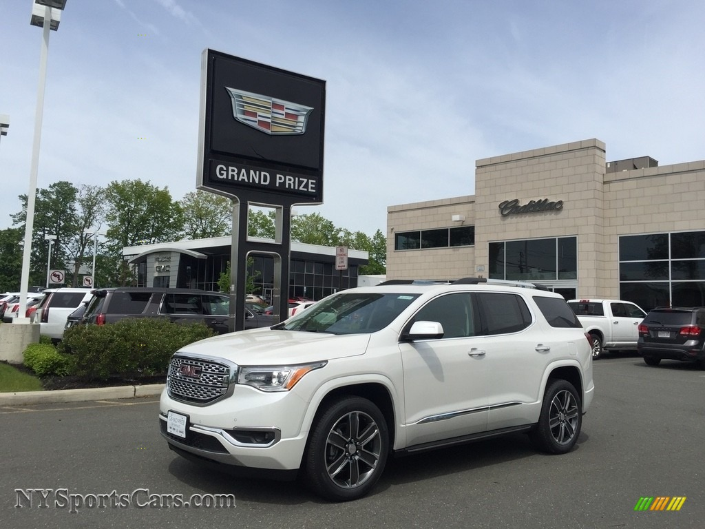 2017 Acadia Denali AWD - White Frost Tricoat / Jet Black photo #1