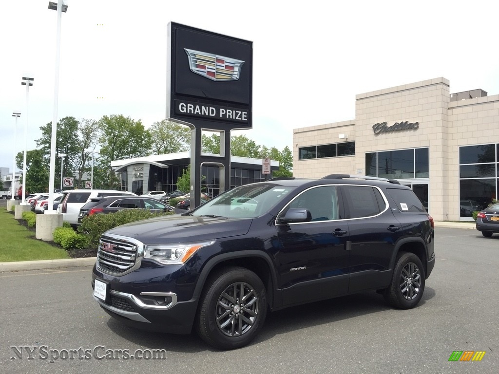 Dark Sapphire Blue Metallic / Jet Black GMC Acadia SLT AWD