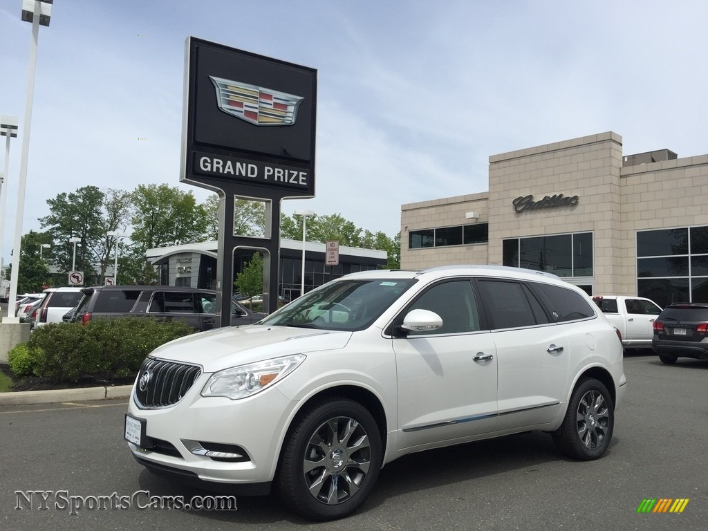 2017 Enclave Premium AWD - White Frost Tricoat / Ebony/Ebony photo #1