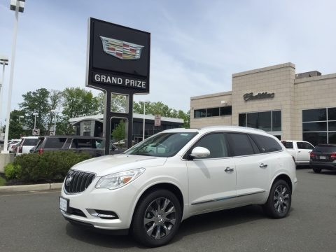 White Frost Tricoat 2017 Buick Enclave Premium AWD