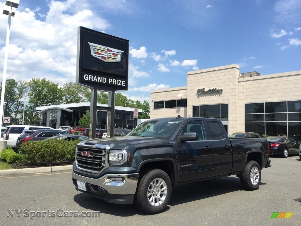 2017 Sierra 1500 SLE Double Cab 4WD - Dark Slate Metallic / Jet Black photo #1