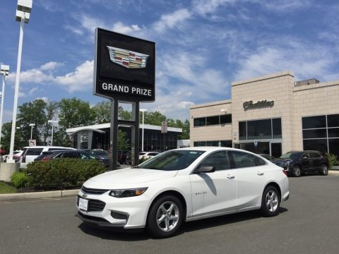 Summit White 2017 Chevrolet Malibu LS