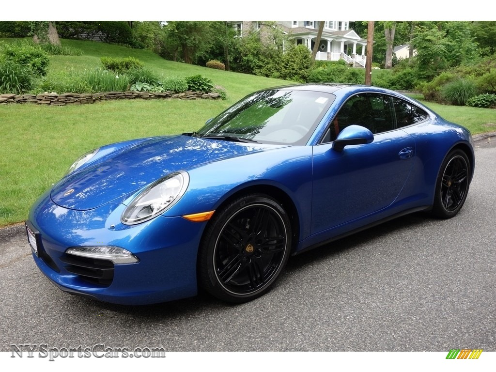 2015 911 Carrera 4 Coupe - Sapphire Blue Metallic / Black photo #1