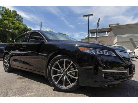 Crystal Black Pearl 2017 Acura TLX V6 SH-AWD Advance Sedan