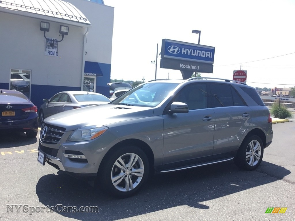 2012 ML 350 4Matic - Palladium Silver Metallic / Almond Beige photo #1