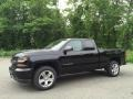 Chevrolet Silverado 1500 Custom Double Cab 4x4 Black photo #1