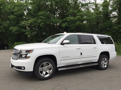 Summit White 2017 Chevrolet Suburban LT 4WD