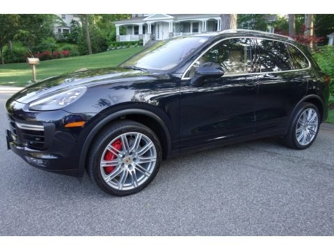 Moonlight Blue Metallic 2015 Porsche Cayenne Turbo