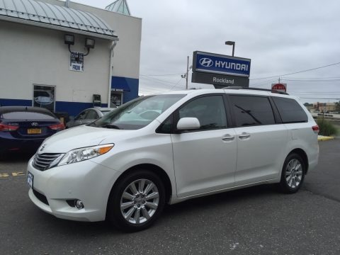 Blizzard White Pearl 2011 Toyota Sienna Limited AWD