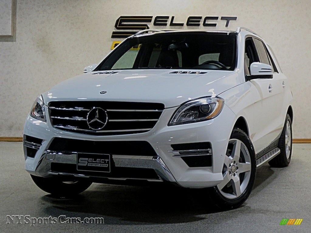 2014 ML 350 4Matic - Polar White / Black photo #1