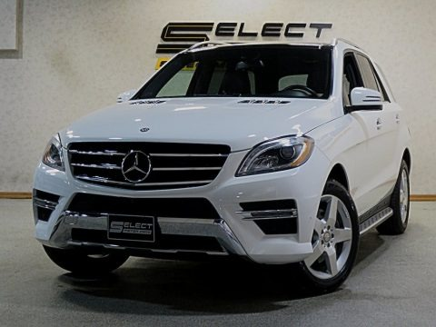 Polar White 2014 Mercedes-Benz ML 350 4Matic