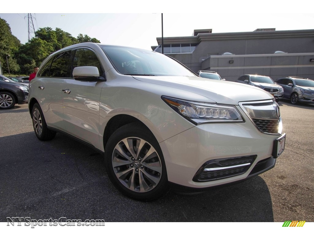 2014 MDX SH-AWD Technology - White Diamond Pearl / Parchment photo #1