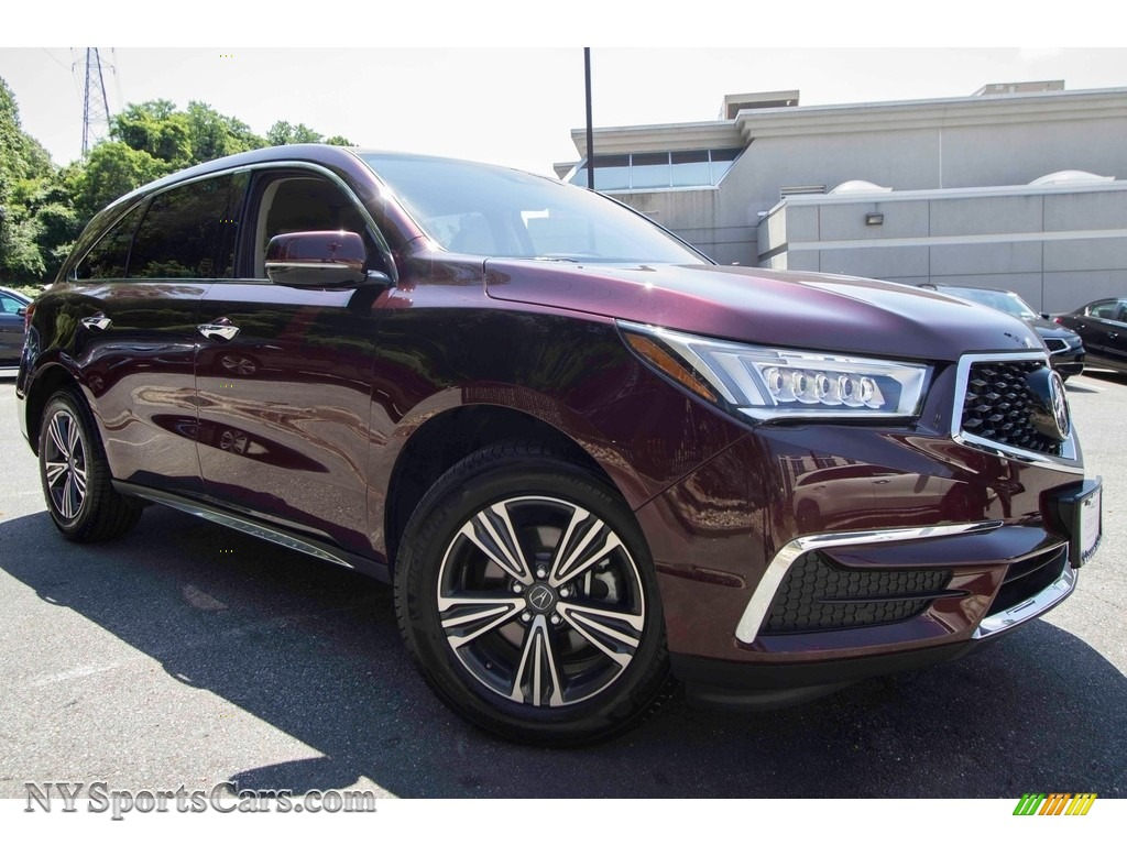2017 MDX SH-AWD - Dark Cherry Pearl / Parchment photo #1