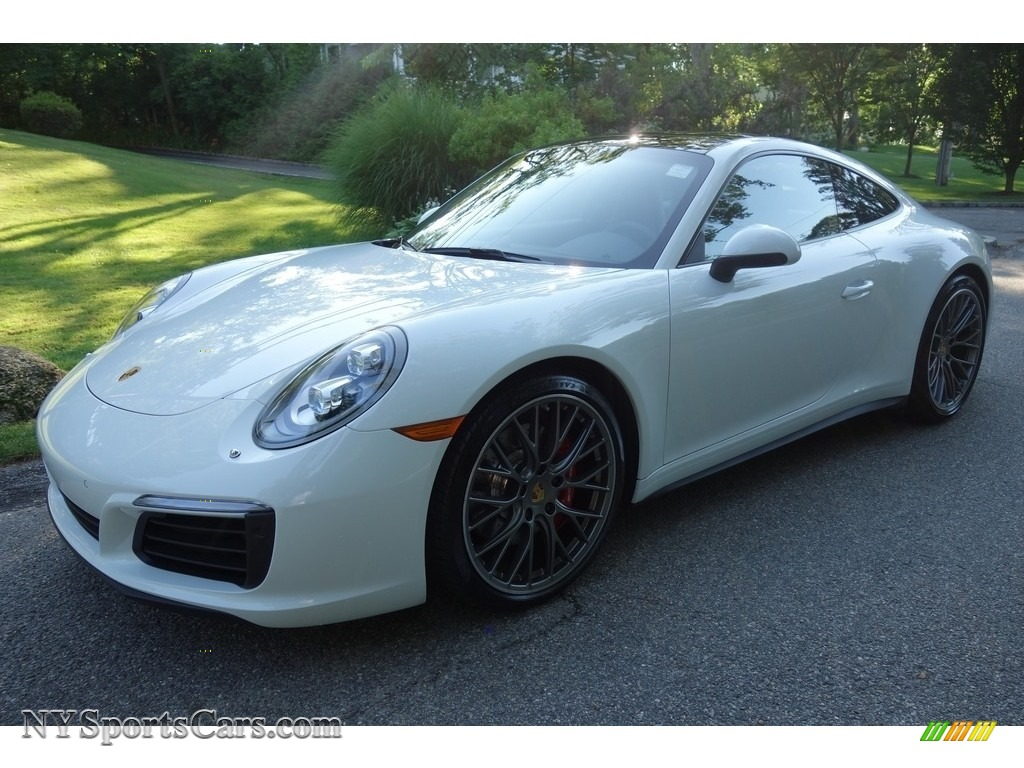 2017 911 Carrera 4S Coupe - White / Black photo #1
