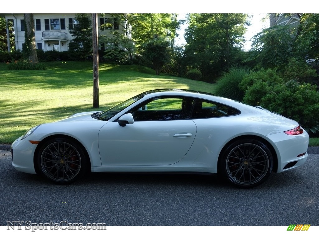 2017 911 Carrera 4S Coupe - White / Black photo #3