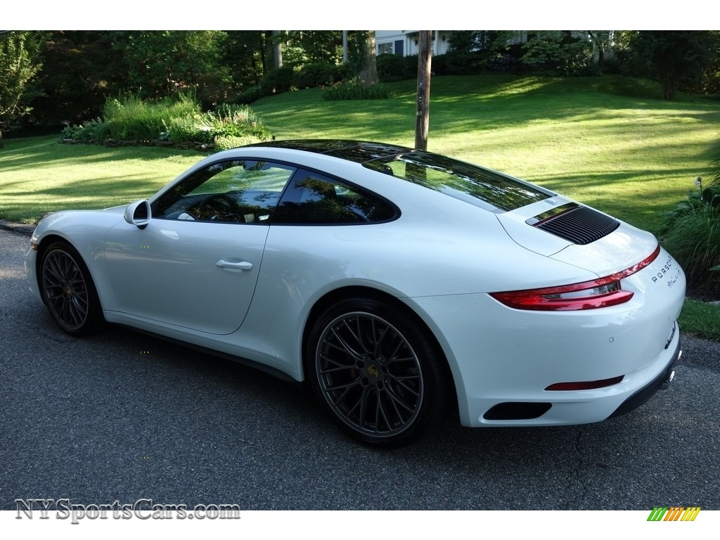 2017 911 Carrera 4S Coupe - White / Black photo #4