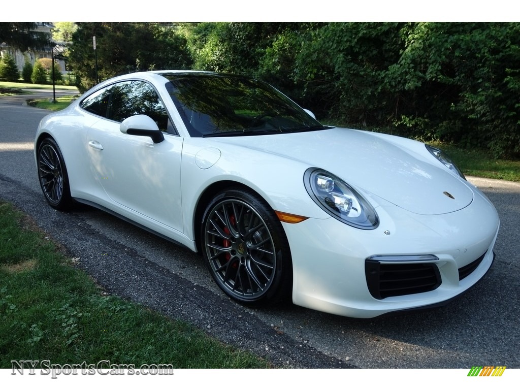 2017 911 Carrera 4S Coupe - White / Black photo #8