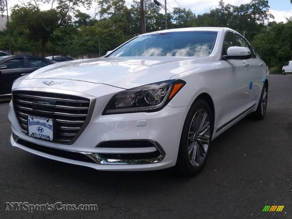 2018 genesis white. wonderful genesis 2018 genesis g80 awd  casablanca white  beige photo 1 and genesis white