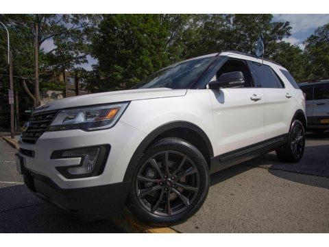 White Platinum 2017 Ford Explorer XLT 4WD