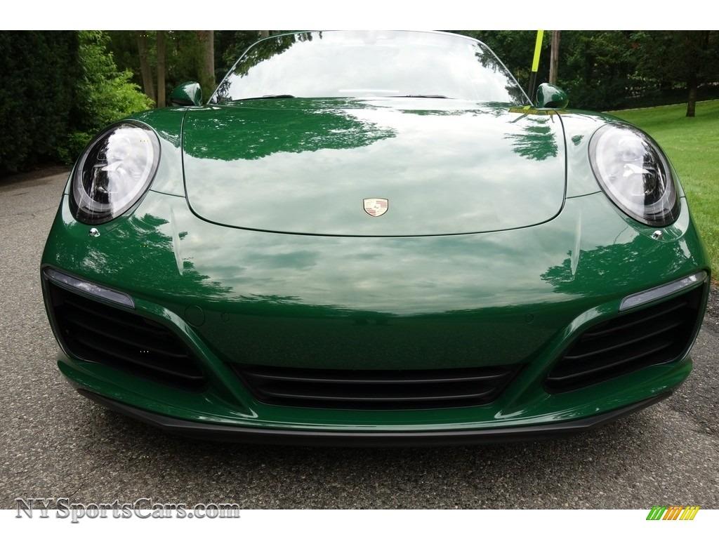 2017 911 Targa 4S - Paint to Sample Irish Green / Natural Espresso photo #2