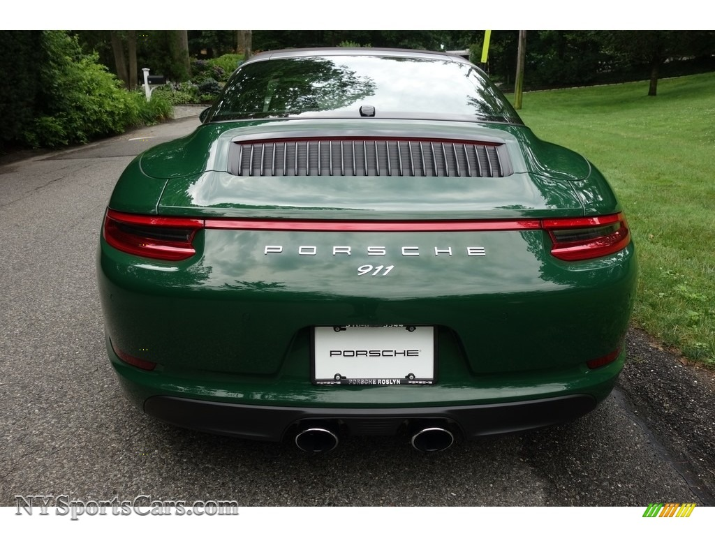 2017 911 Targa 4S - Paint to Sample Irish Green / Natural Espresso photo #6