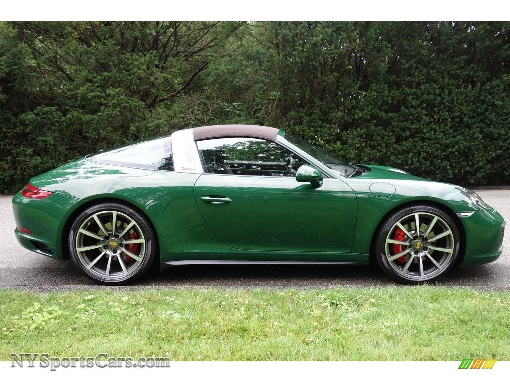 2017 911 Targa 4S - Paint to Sample Irish Green / Natural Espresso photo #8