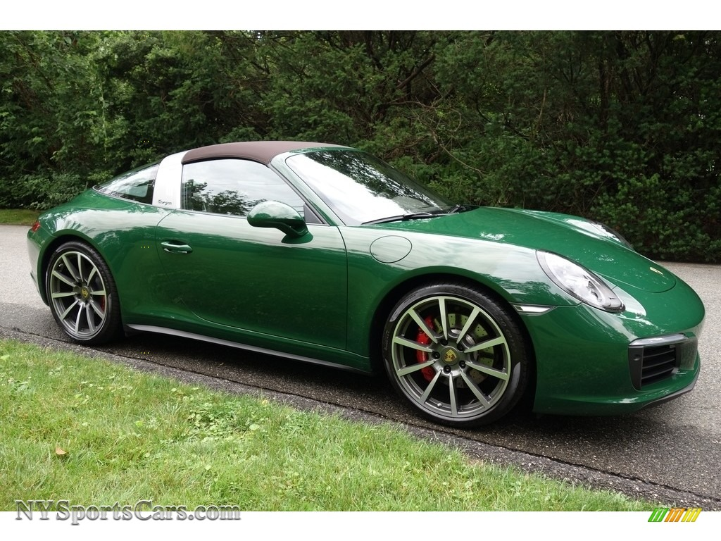 2017 911 Targa 4S - Paint to Sample Irish Green / Natural Espresso photo #9