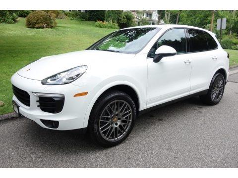 White 2017 Porsche Cayenne Platinum Edition