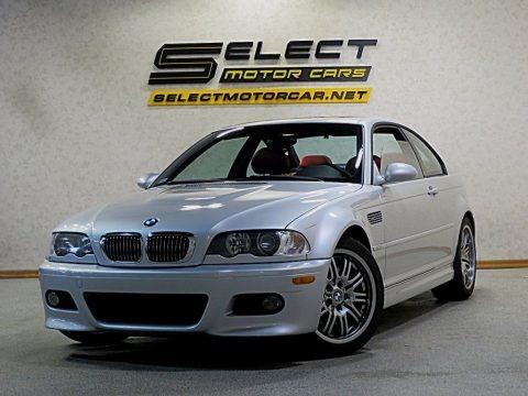 Titanium Silver Metallic 2002 BMW M3 Coupe