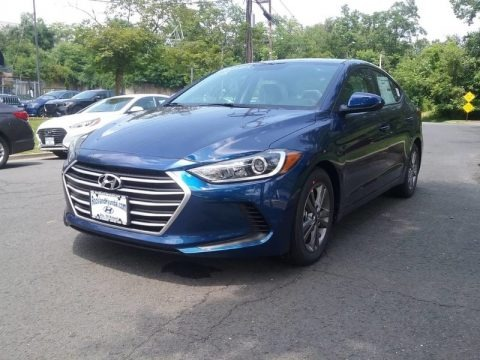 Electric Blue 2018 Hyundai Elantra Limited