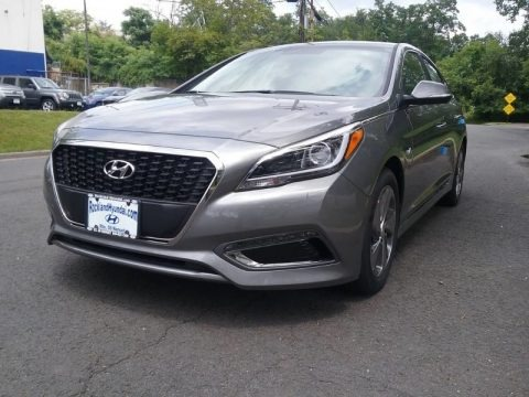 Pewter Gray Metallic 2017 Hyundai Sonata Limited Hybrid