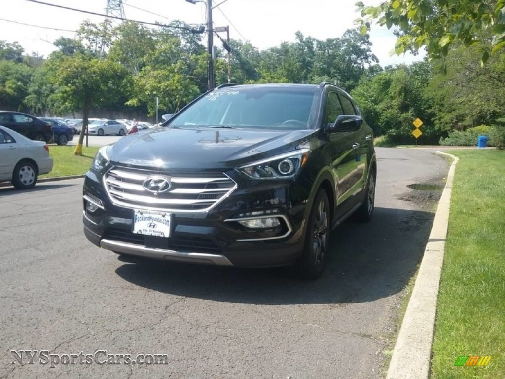 2018 Santa Fe Sport 2.0T AWD - Black / Black photo #1