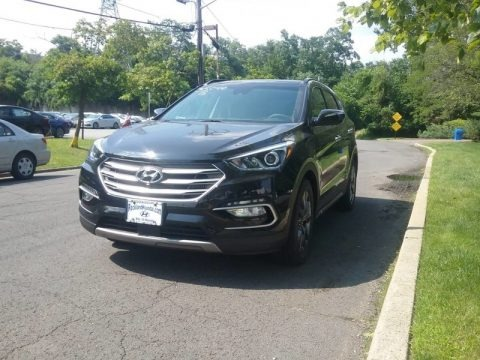 Black 2018 Hyundai Santa Fe Sport 2.0T AWD