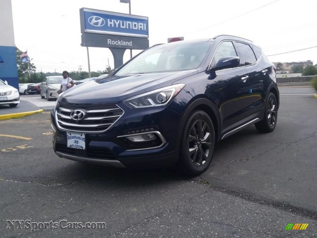 2018 Santa Fe Sport 2.0T AWD - Nightfall Blue / Beige photo #1