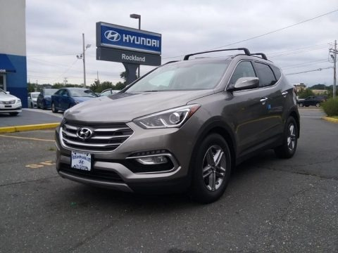 Gray 2018 Hyundai Santa Fe Sport AWD