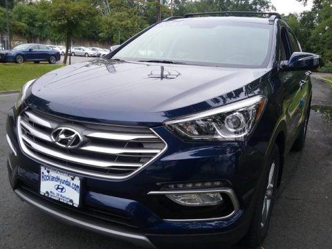 Nightfall Blue 2018 Hyundai Santa Fe Sport AWD