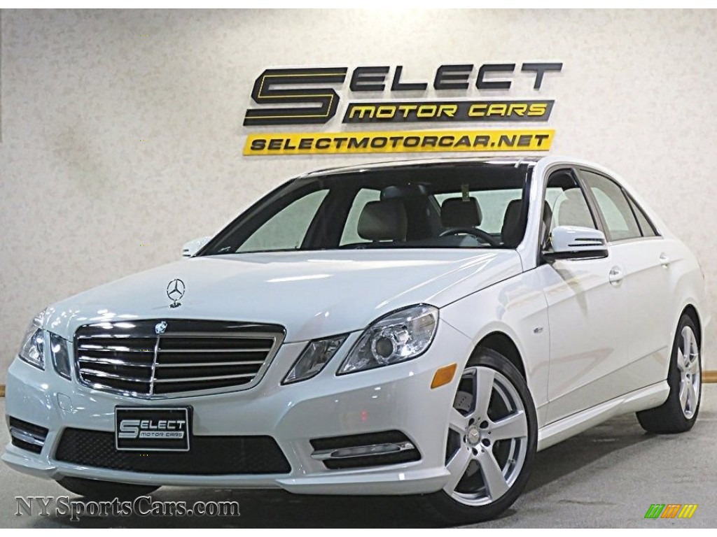 2012 E 350 4Matic Sedan - Arctic White / Almond/Mocha photo #1