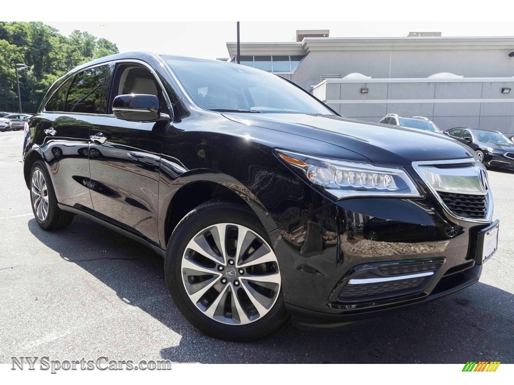 2015 MDX SH-AWD Technology - Crystal Black Pearl / Parchment photo #1