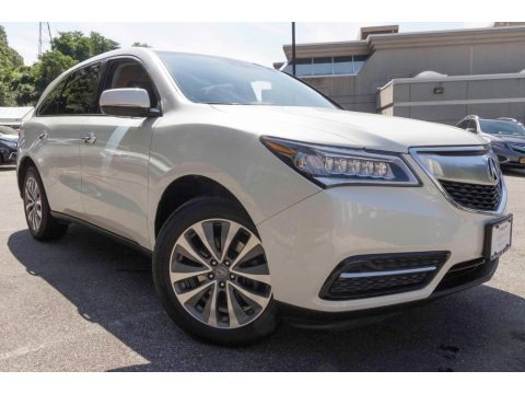 White Diamond Pearl 2015 Acura MDX SH-AWD Technology