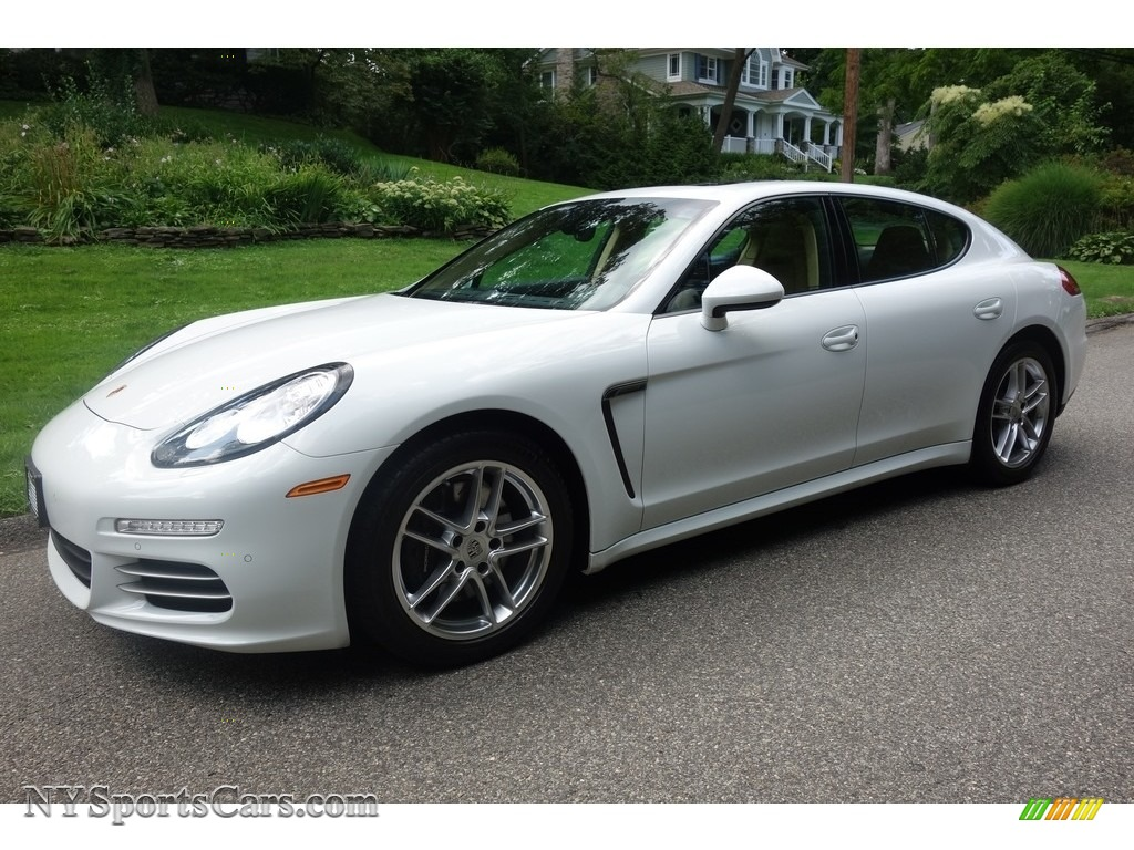 2015 Panamera 4 - White / Luxor Beige photo #1