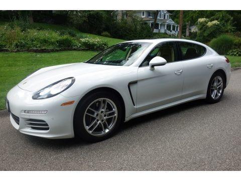 White 2015 Porsche Panamera 4