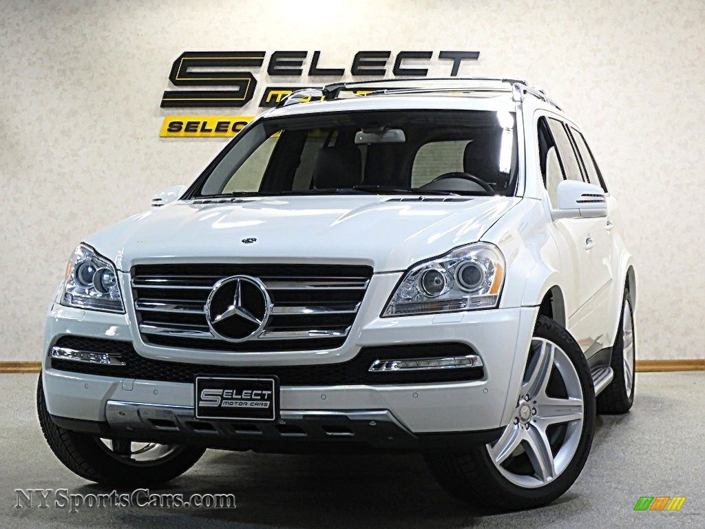 2012 GL 550 4Matic - Arctic White / Black photo #1